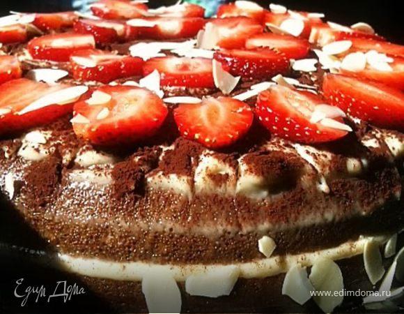 Черемуховый торт с заварным кремом