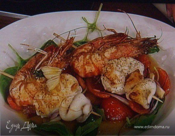 Шашлык из морепродуктов рецепт