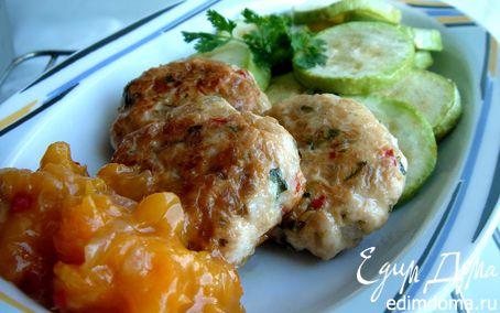 Рецепт Рубленые куриные кебабы с абрикосовым чатни