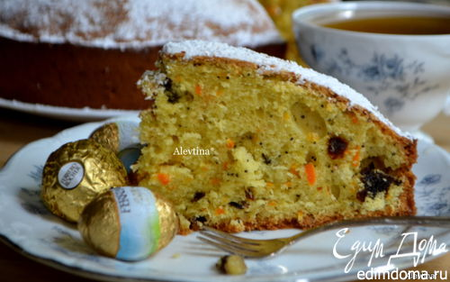 Рецепт Морковный кекс со сливой
