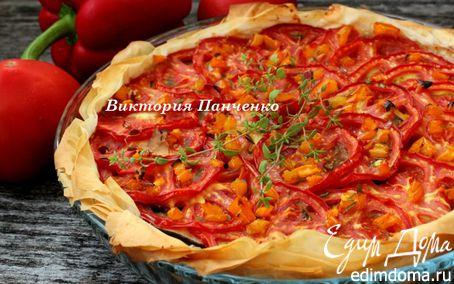 """Рецепт Быстрый томатный пирог (""""новый урожай"""")"""