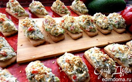 Рецепт Сырно-творожная закуска на печенье