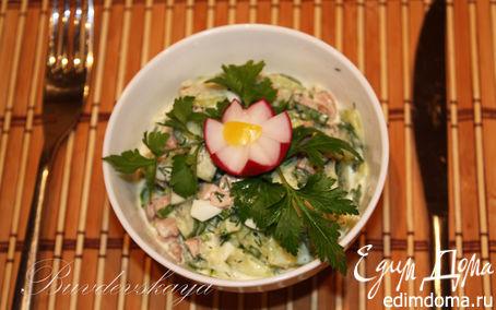 Рецепт Необычный Салат с печенью трески