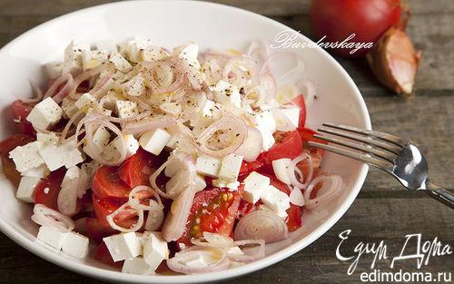 Рецепт Летний Салат из помидоров с брынзой