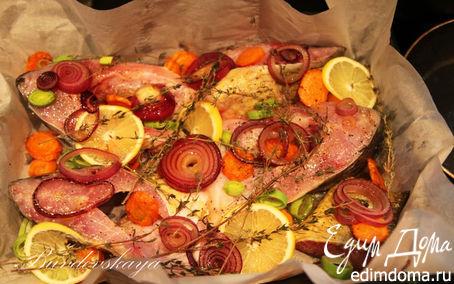 Рецепт Карп, запеченный с овощами