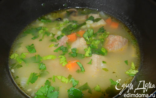 Рецепт Богатый ароматный перловый суп с говядиной