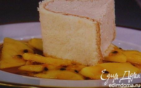 Рецепт Парфе-тирамису с персиковым соусом