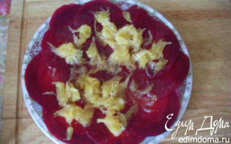 Рецепт Салат из молодой свеклы с апельсинами