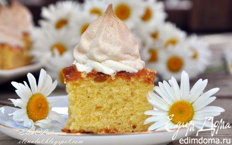 Рецепт Пирог с абрикосовым джемом и безе