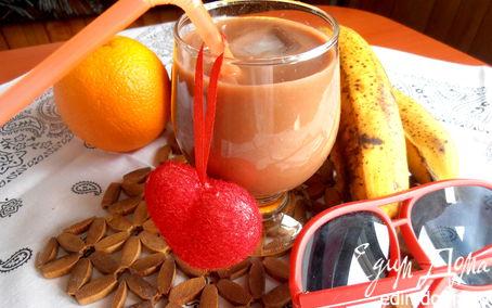 """Рецепт Бананово-шоколадный смузи (""""Прохладительные напитки"""")"""
