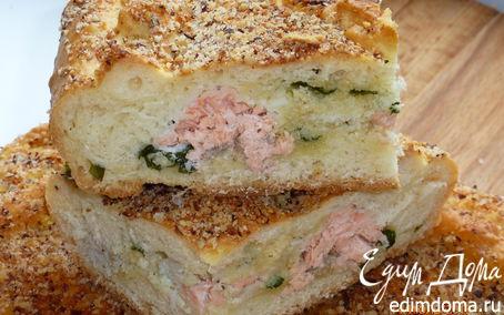 Рецепт Пирог с двумя видами рыбы, луком и манкой