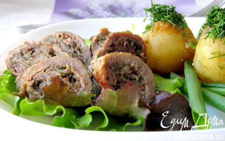 Рецепт Мясные рулетики с грибами и беконом