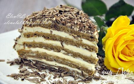 Рецепт Шоколадно-сливочный торт с карамельным кремом
