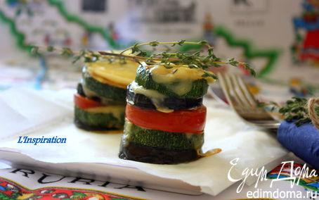 """Рецепт """"Овощные башенки"""" с сыром"""