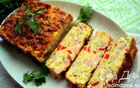 Рецепт Закусочный кекс с овощами и ветчиной