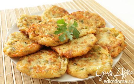 Рецепт Оладушки из цукини (кабачка) с баклажанами