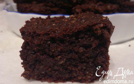 Рецепт Простой шоколадно-овсяный пирог