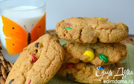 """Рецепт Печенье """"Радуга"""" с m&m's (Giant Rainbow Cookies)"""
