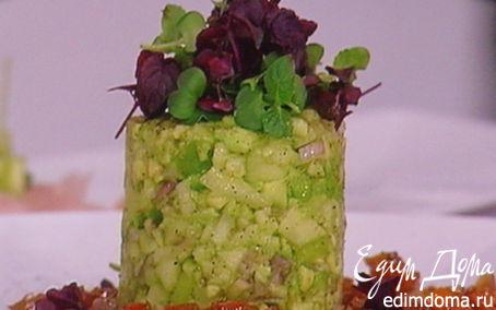 Рецепт Севиче из филе форели с авокадово - яблочным тартаром