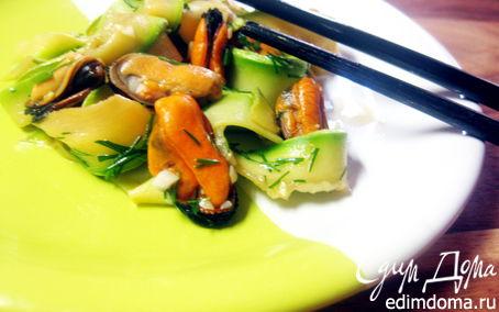 """Рецепт Кабачковый салат с мидиями (""""Неделя японской кухни"""")"""