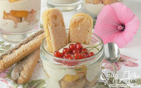 Рецепт Йогуртовый пудинг с персиками