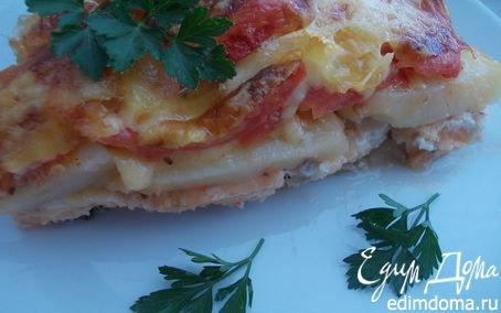 Рецепт Рыба, запеченная с овощами и сыром