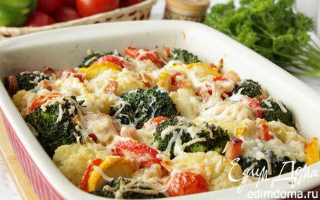 Рецепт Гратен из цветной капусты и брокколи