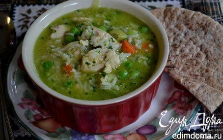 Рецепт Суп куриный с зеленым горошком