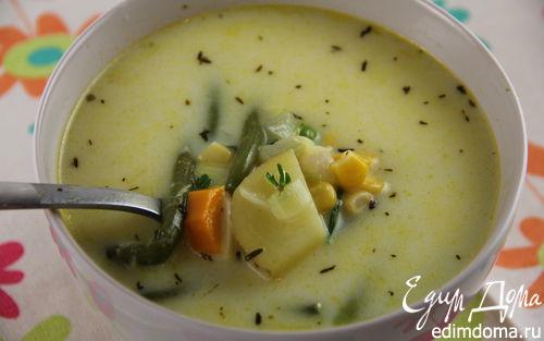 """Рецепт Североамериканский овощной суп """"Суккоташ"""""""