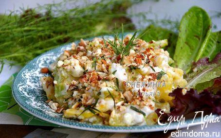 Рецепт Легкий салат из цукини с тархуном и жареным миндалем