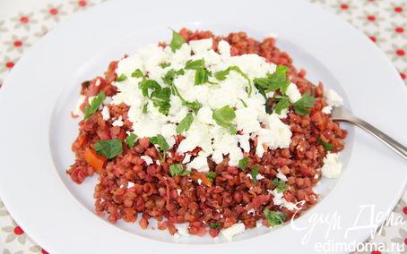 Рецепт Гречка с овощами и фетой