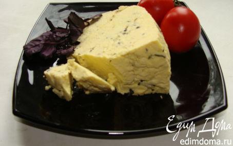Рецепт Домашний сыр с базиликом