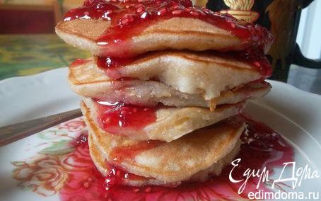 Рецепт Овсяные оладушки с яблоком и корицей