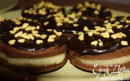 Рецепт Шоколадное печенье с заварным кремом