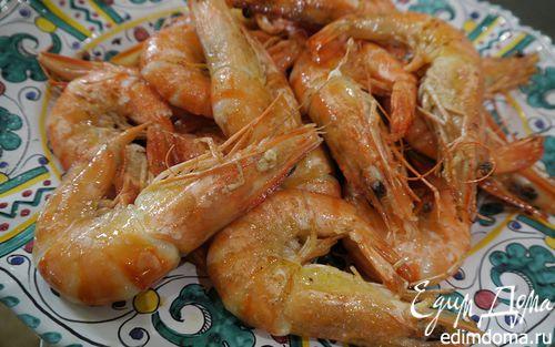 Рецепт Креветки, жаренные с чесноком и петрушкой