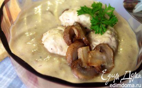 Рецепт Сливочно-грибной суп-пюре с фрикадельками