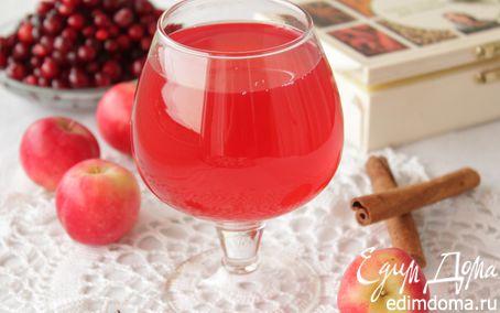 Рецепт компот клюквенно-яблочный пряный