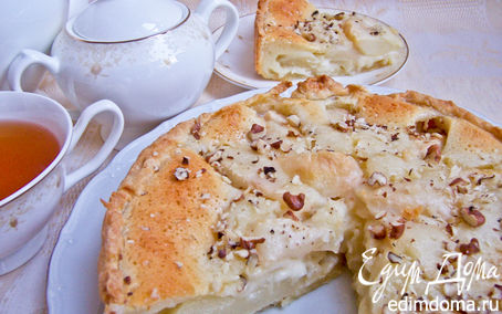 Рецепт Нежный грушево-лимонный пирог