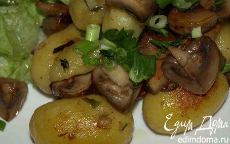 Рецепт Картофель по‑деревенски с грибами