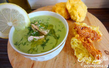 Рецепт Крем-суп из зеленого горошка с семгой