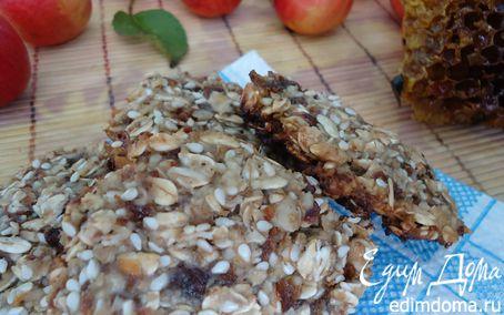 Рецепт Овсяное печенье на меду