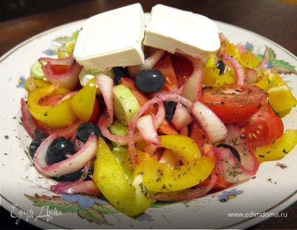 рецепт греческого салата пошаговый рецепт с фото