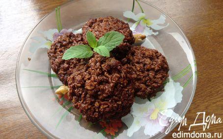 Рецепт Овсяное шоколадно-ореховое печенье