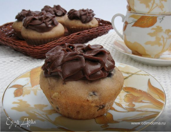 Кексы с шоколадным кремом