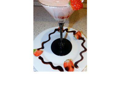 Рецепт Клубничная пена с ликером и бальзамическим кремом