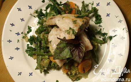 Рецепт Треска с овощами