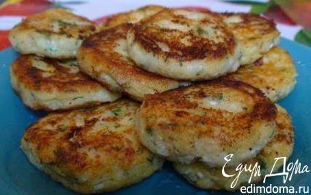 Рецепт Картофельные оладьи с цветной капустой и зеленью