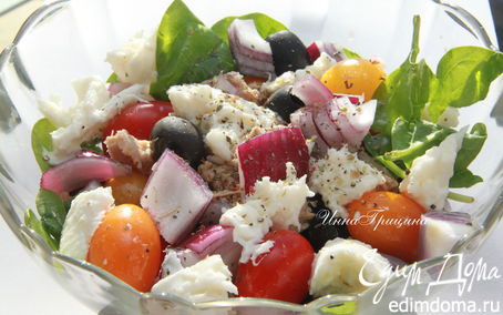 Рецепт Итальянский салат с красным луком (Insalata di cipolle rosse)