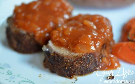 Рецепт Свинина с яблочным соусом