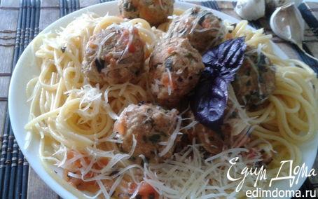 Рецепт Спагетти с фрикадельками из шпината и цукини